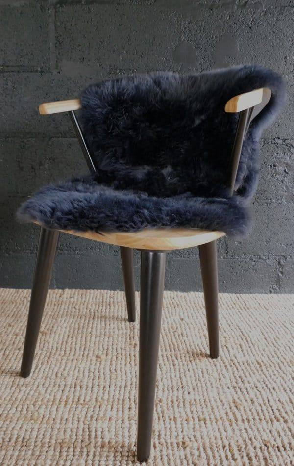 miami chair with blue rug