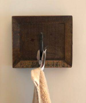 one hook coat hanger with towel