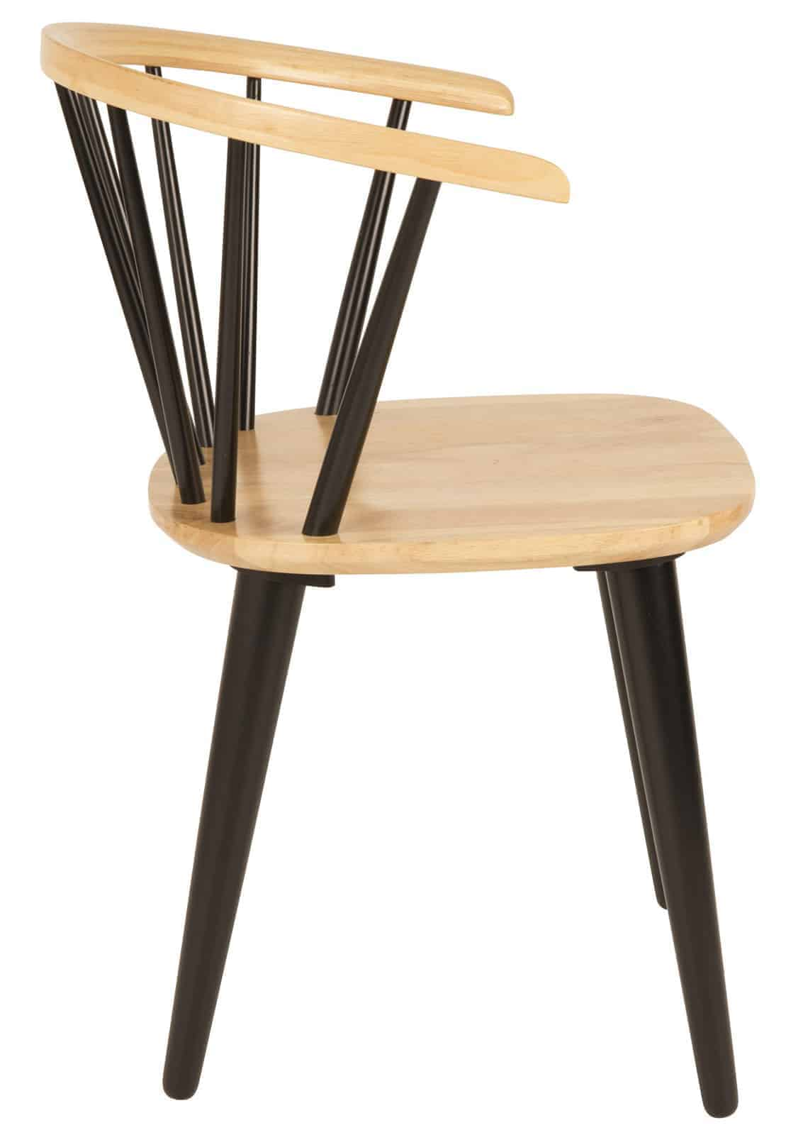 wooden chair with black legs
