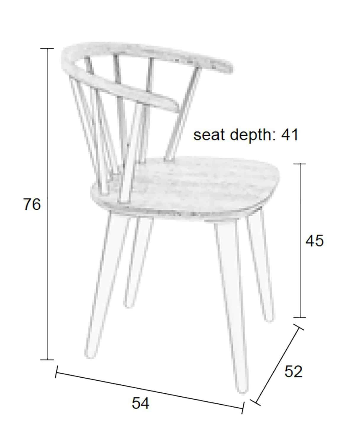 size of chair