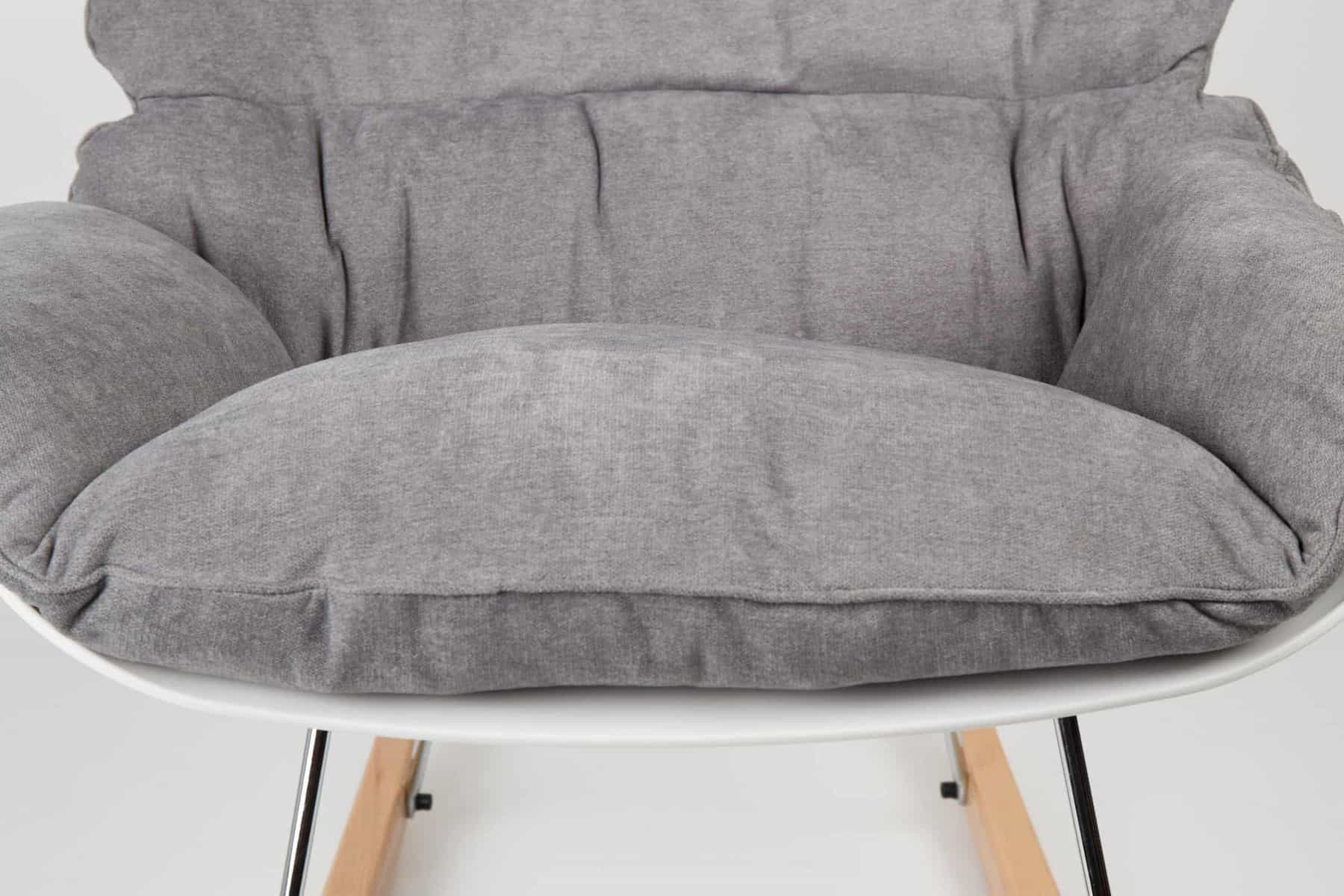 front view of grey rocky light chair