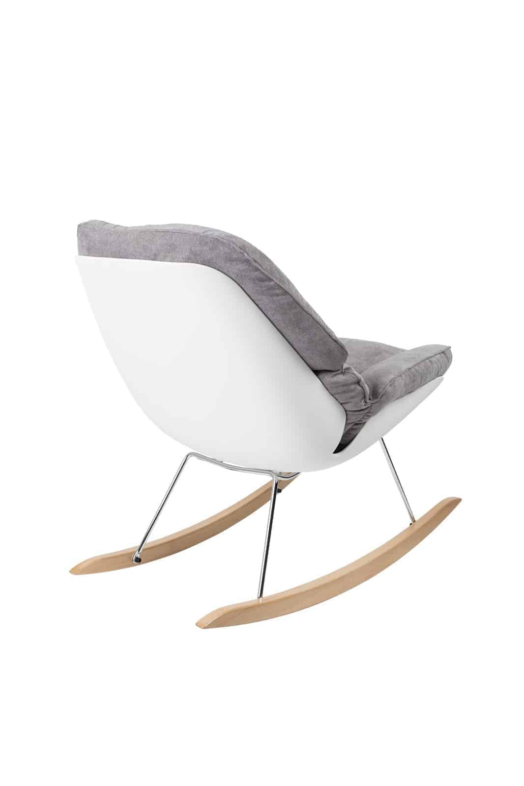 back view of grey rocky light chair