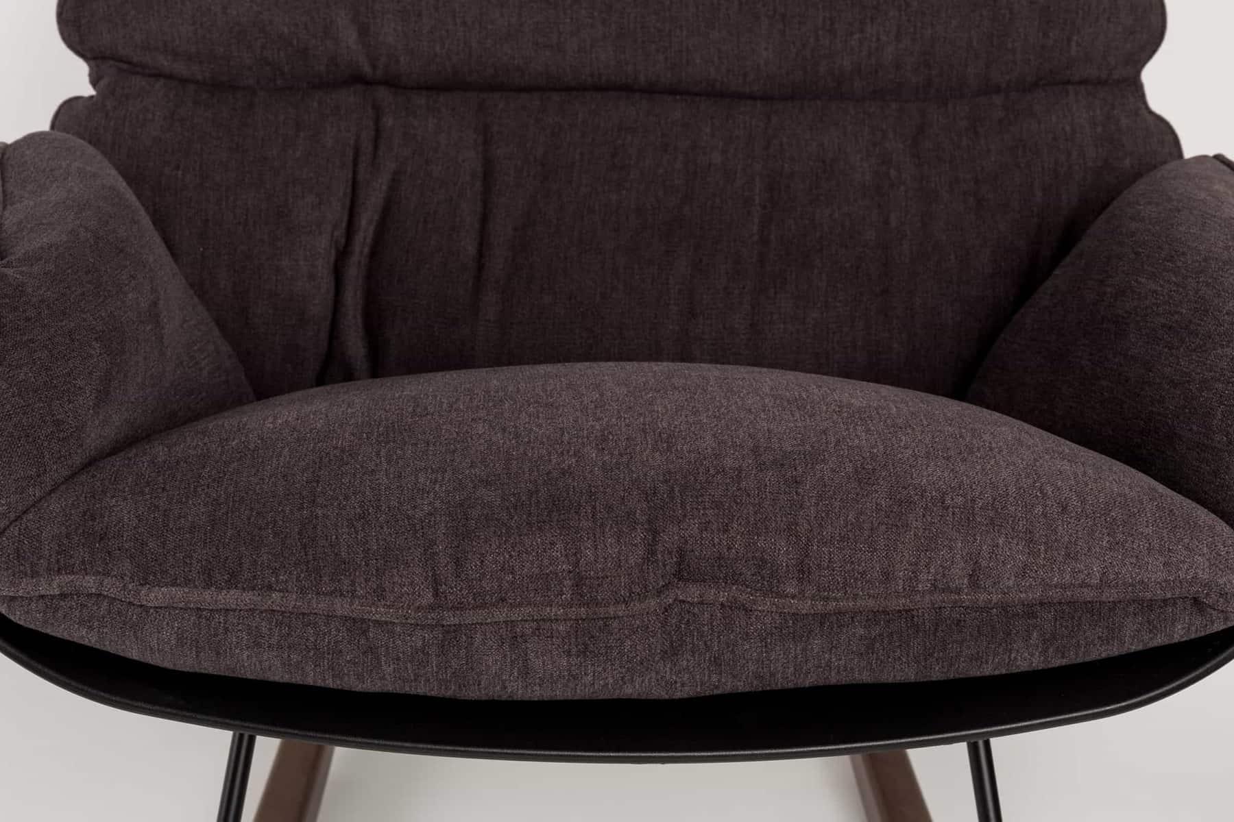 dark puffy rocking chair design front view