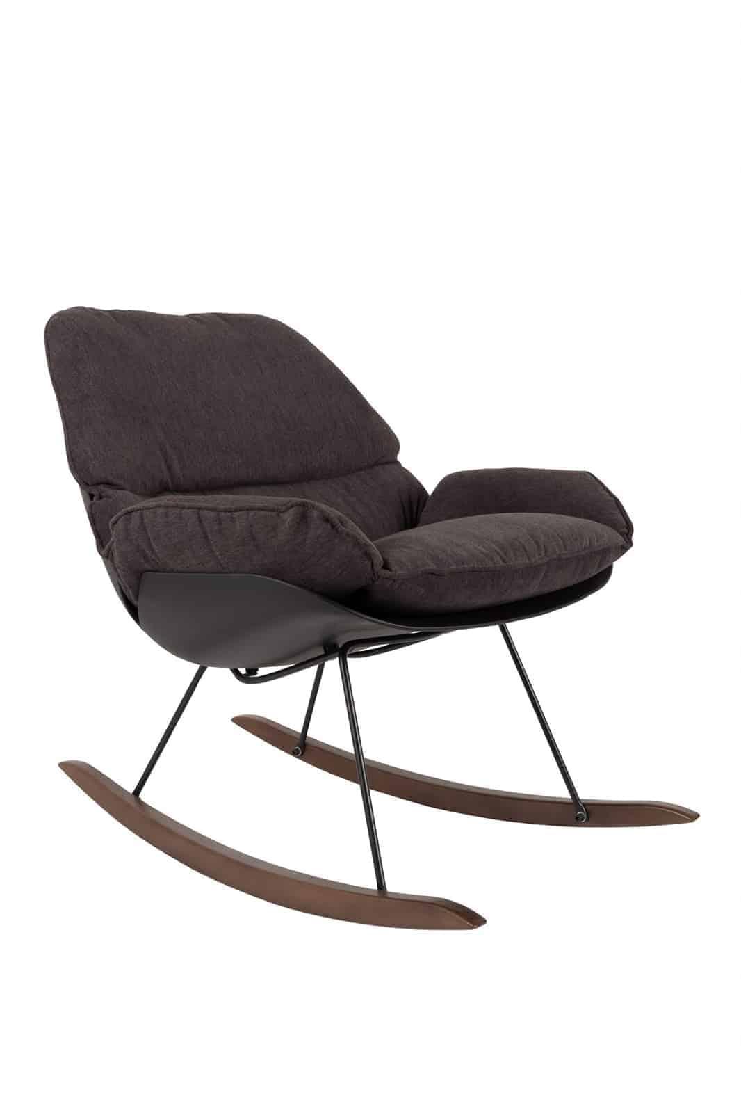dark puffy rocking chair