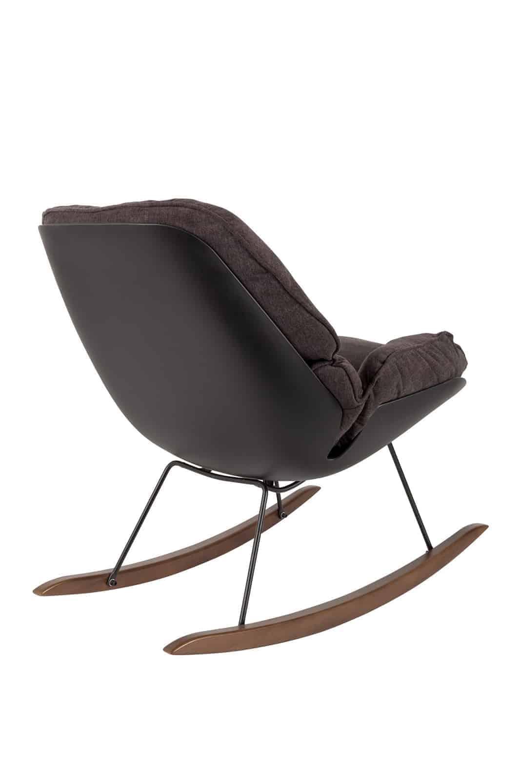 dark puffy rocking chair back