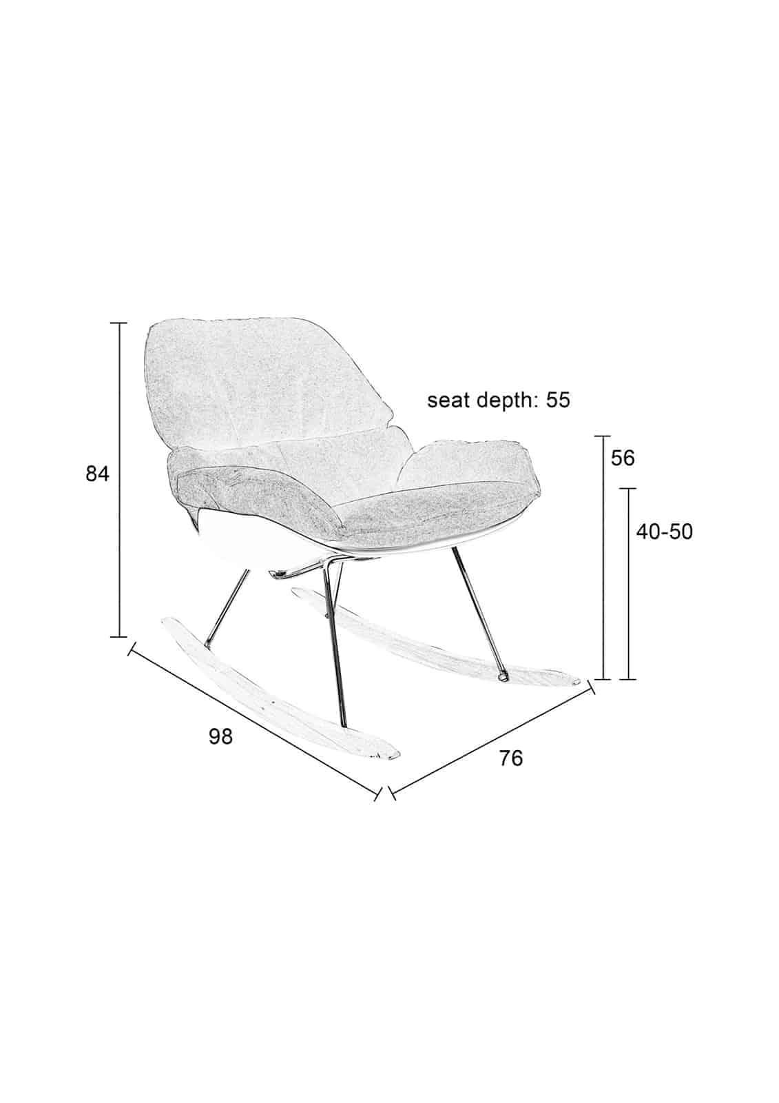 rocky dark chair size guide