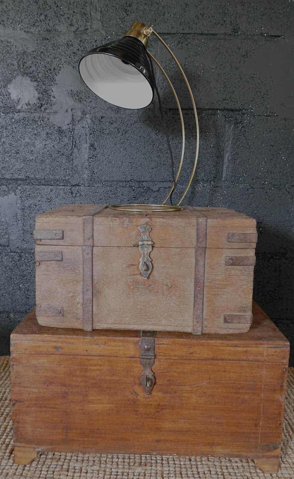 retro lamp shade on chest