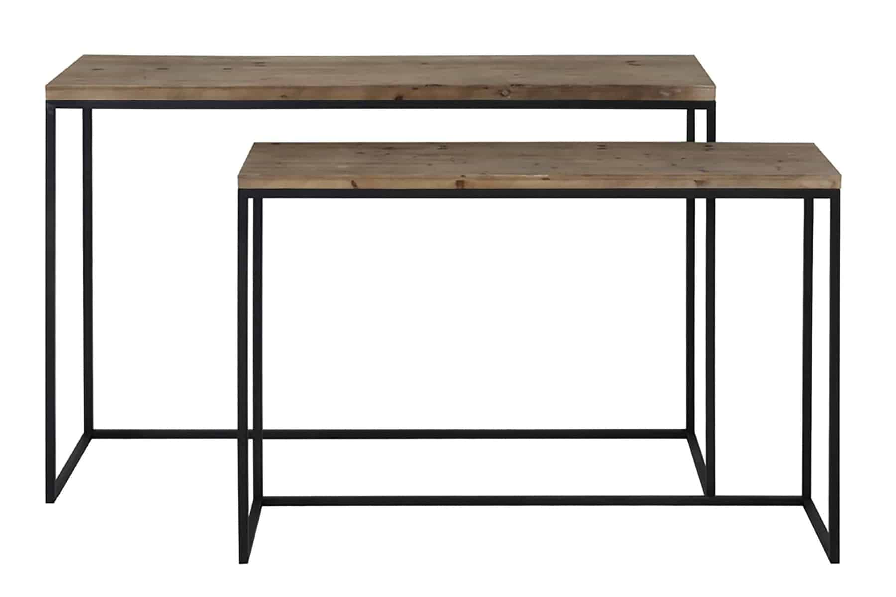 console set of two tables sold by stagers lifestyle