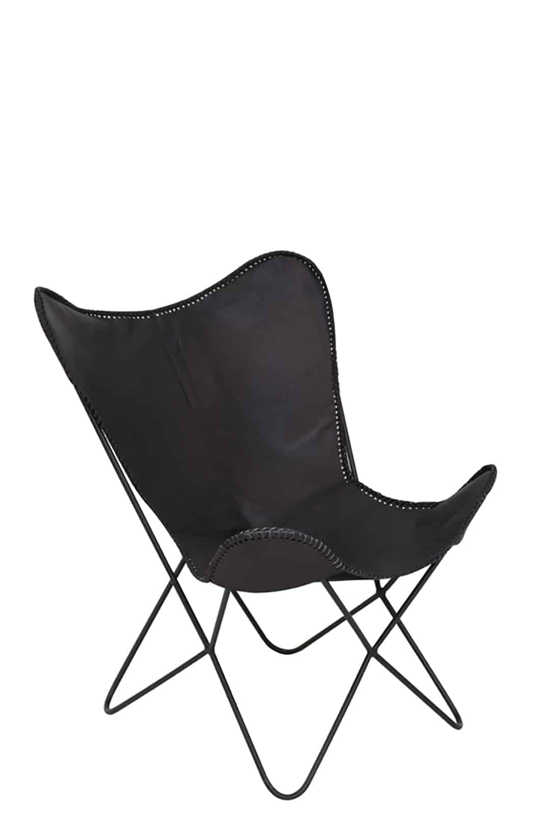 butterfly black leather style chair