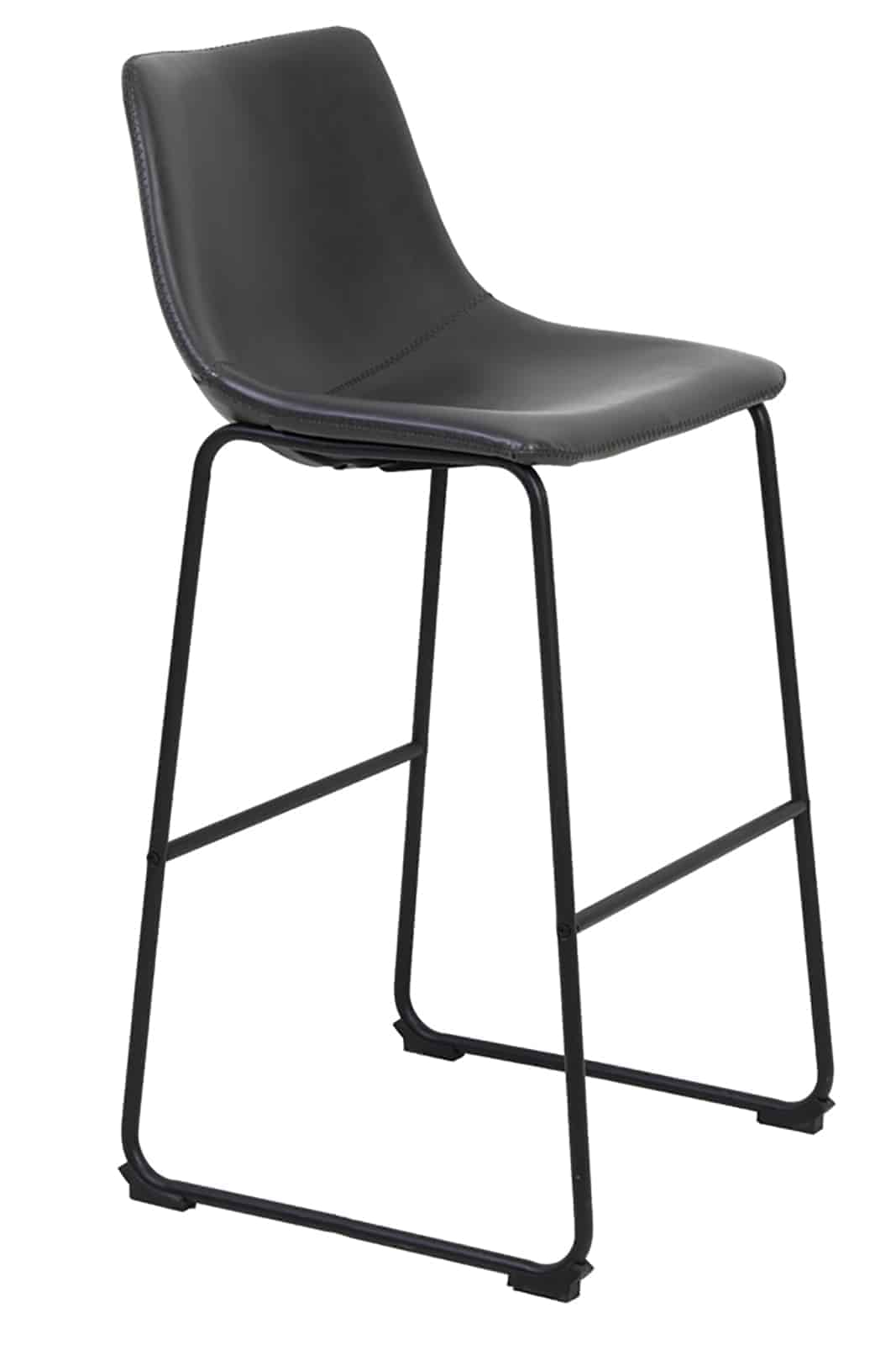 leather bar stool side view