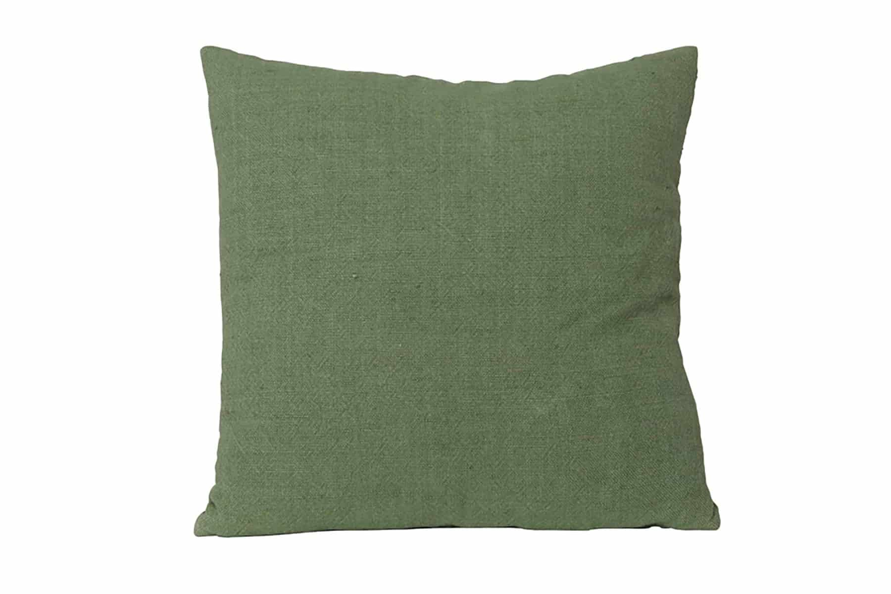 square twill green cushion
