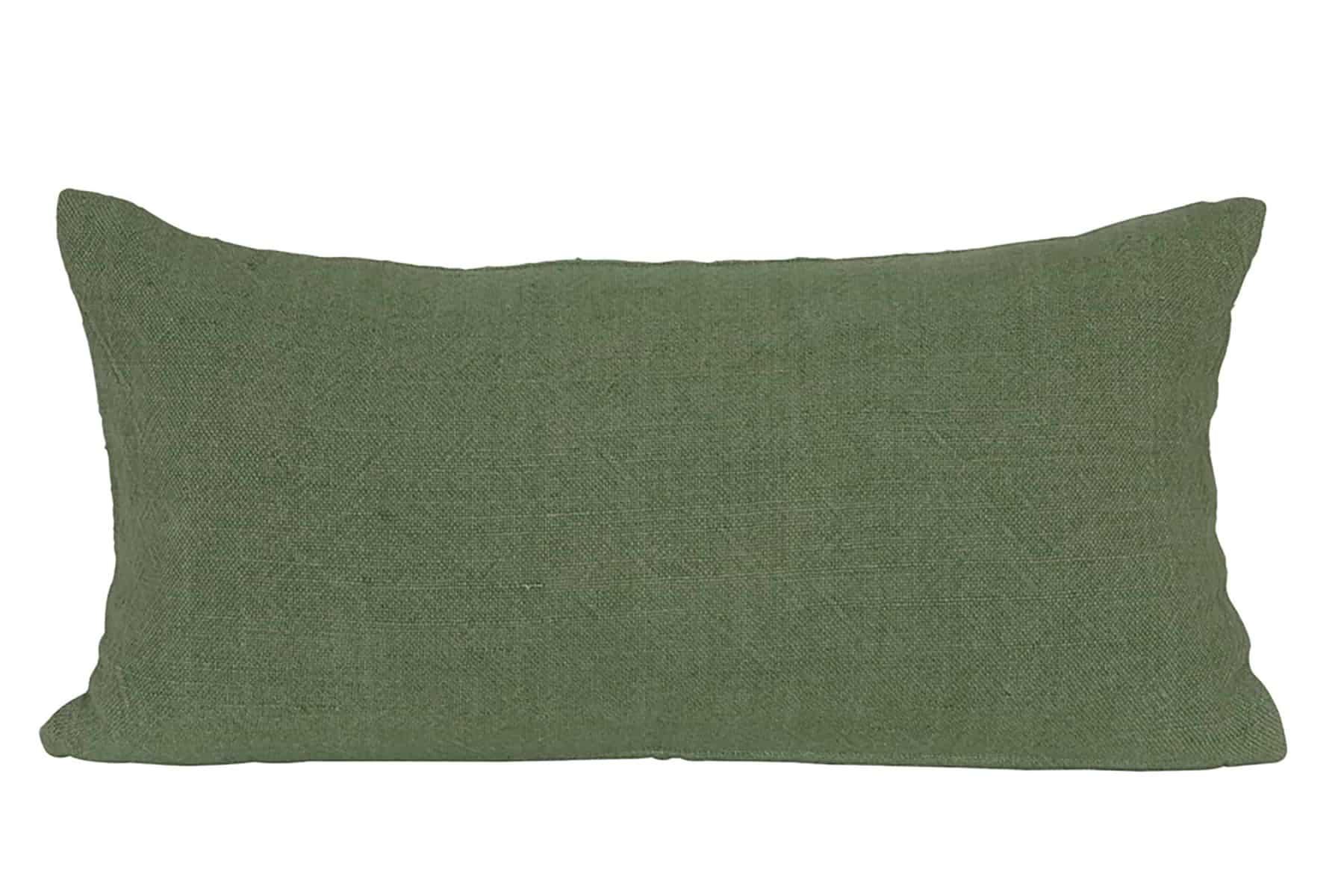 rectangle green twill cushion
