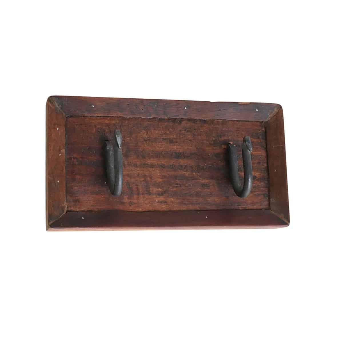 double wooden coat hanger