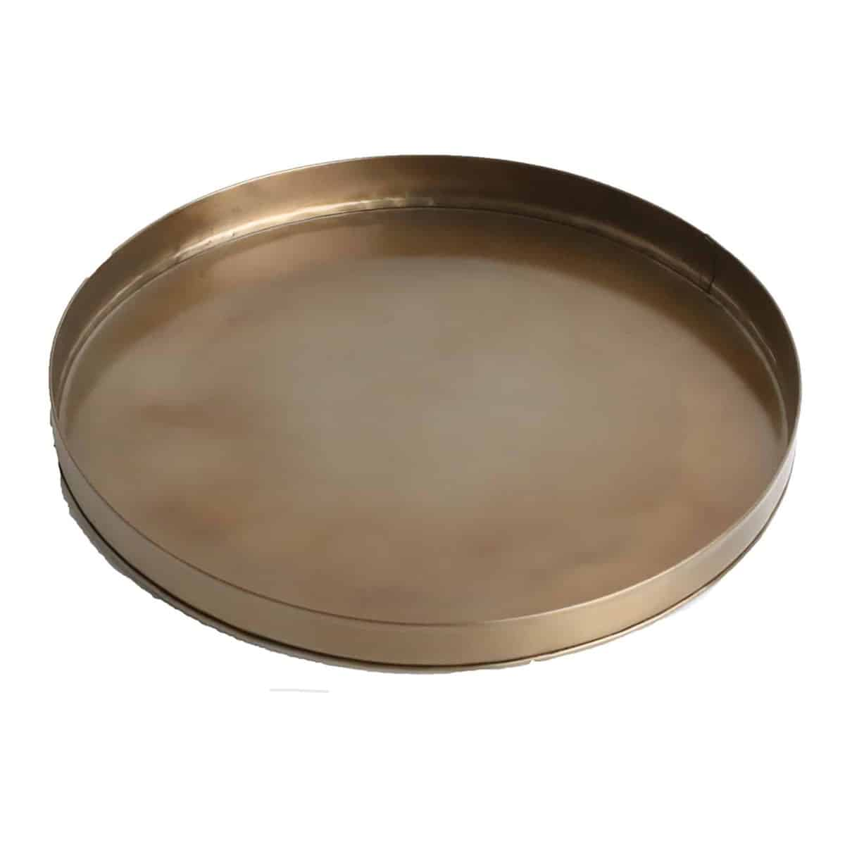 top of brass round tray