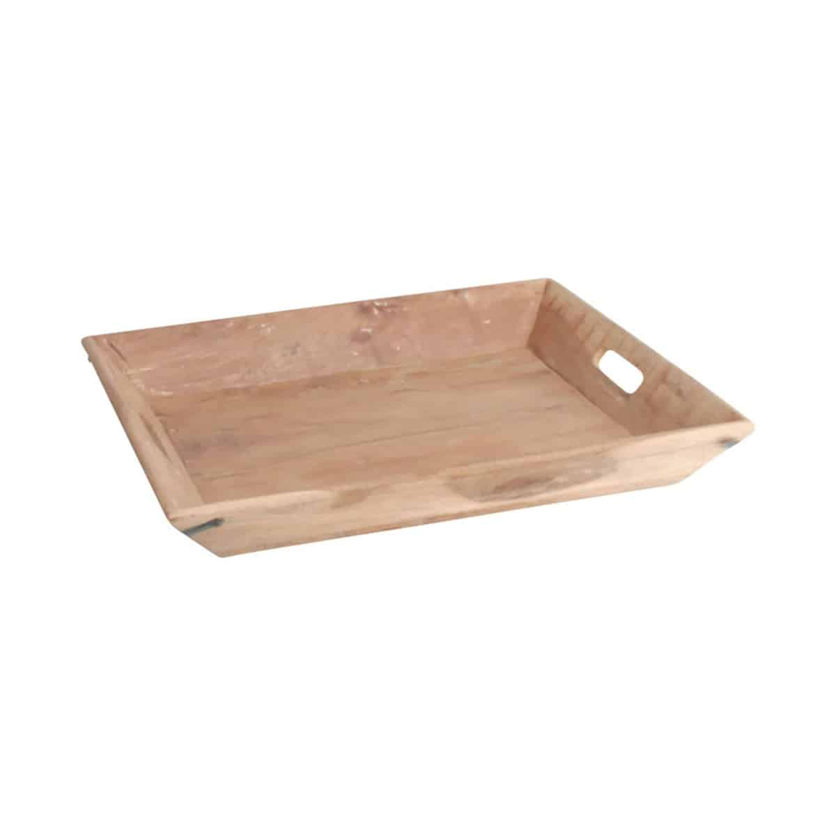 light brown wooden tray