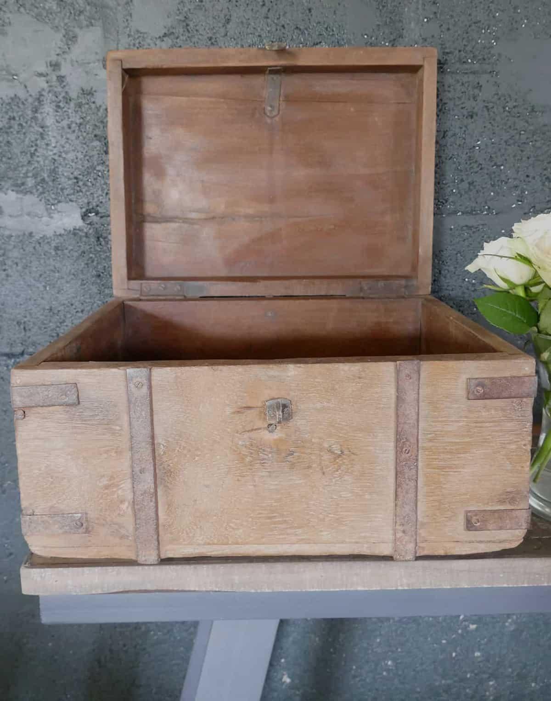 open teak box
