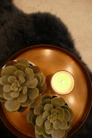 Copper Round Tray