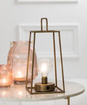 fauve lantern with bulb