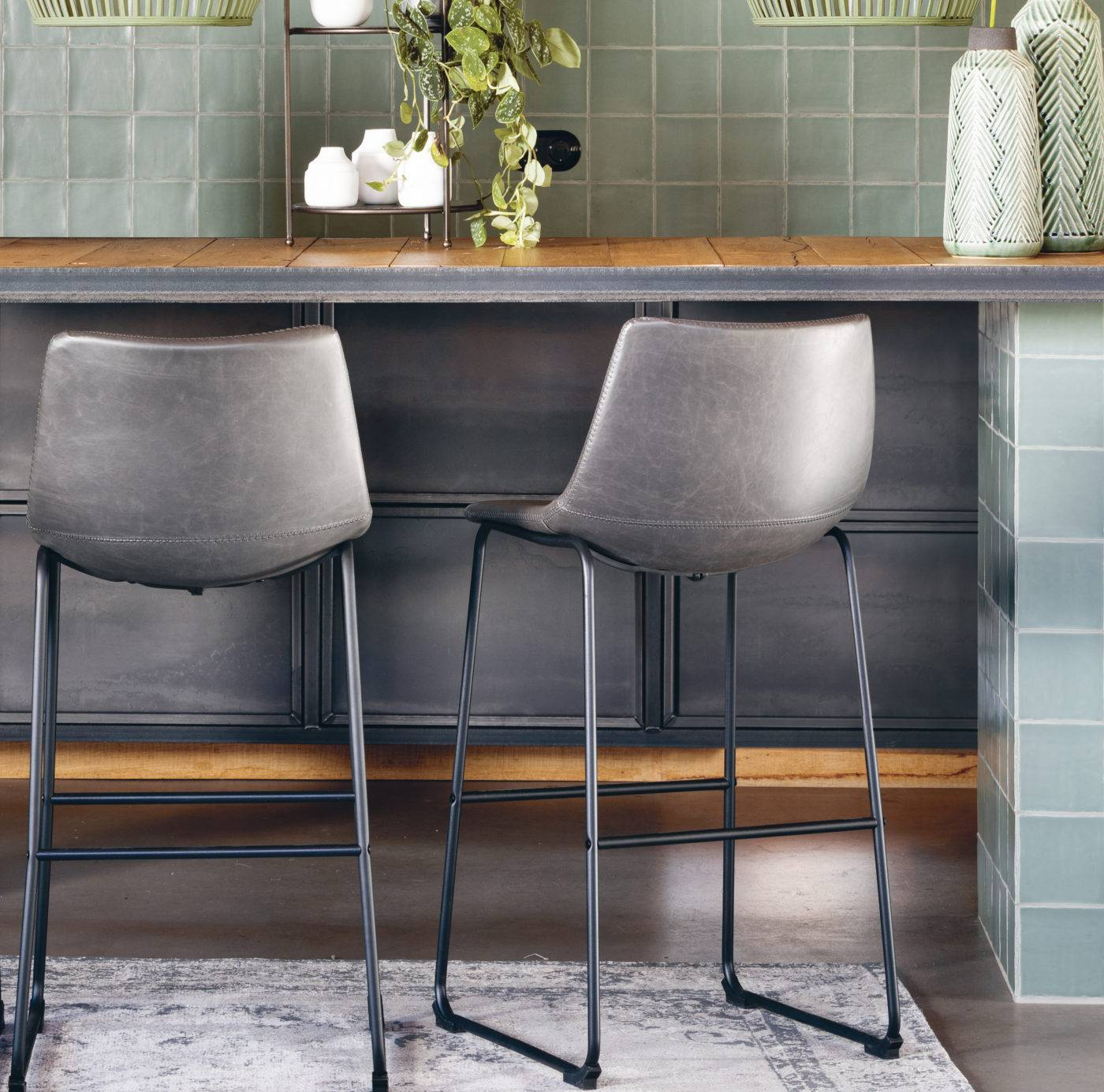 jeddo bar stools at counter