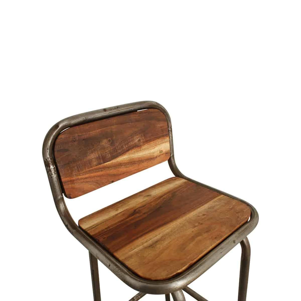 Iron bar stool seat