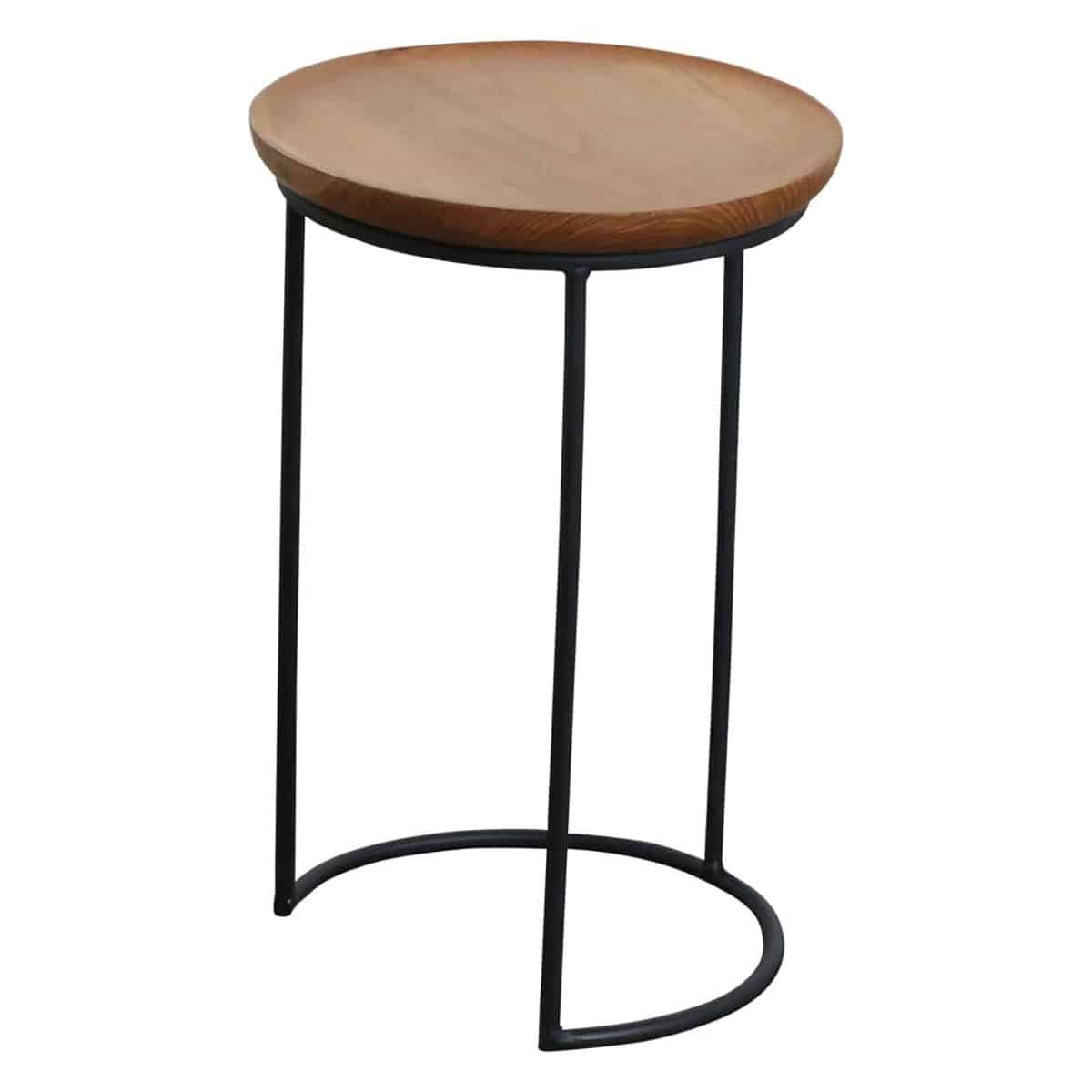 nesting side table wood