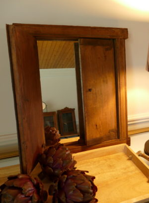 vintage mirror with opening doors