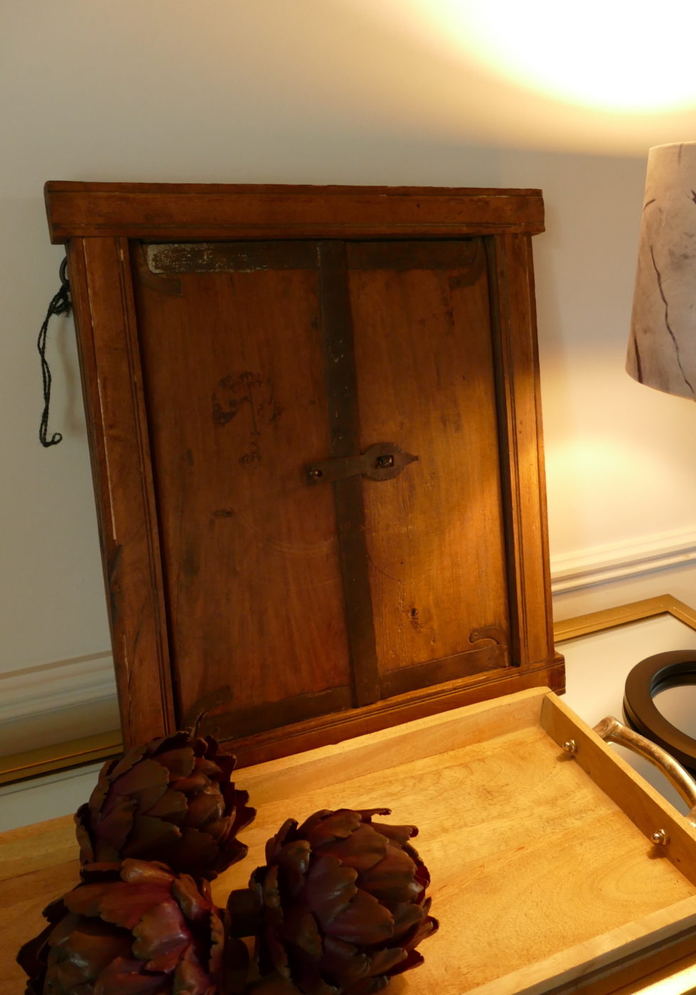 vintage mirror with doors closed