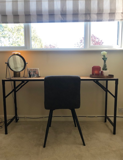 foldable work table and chair with mirror