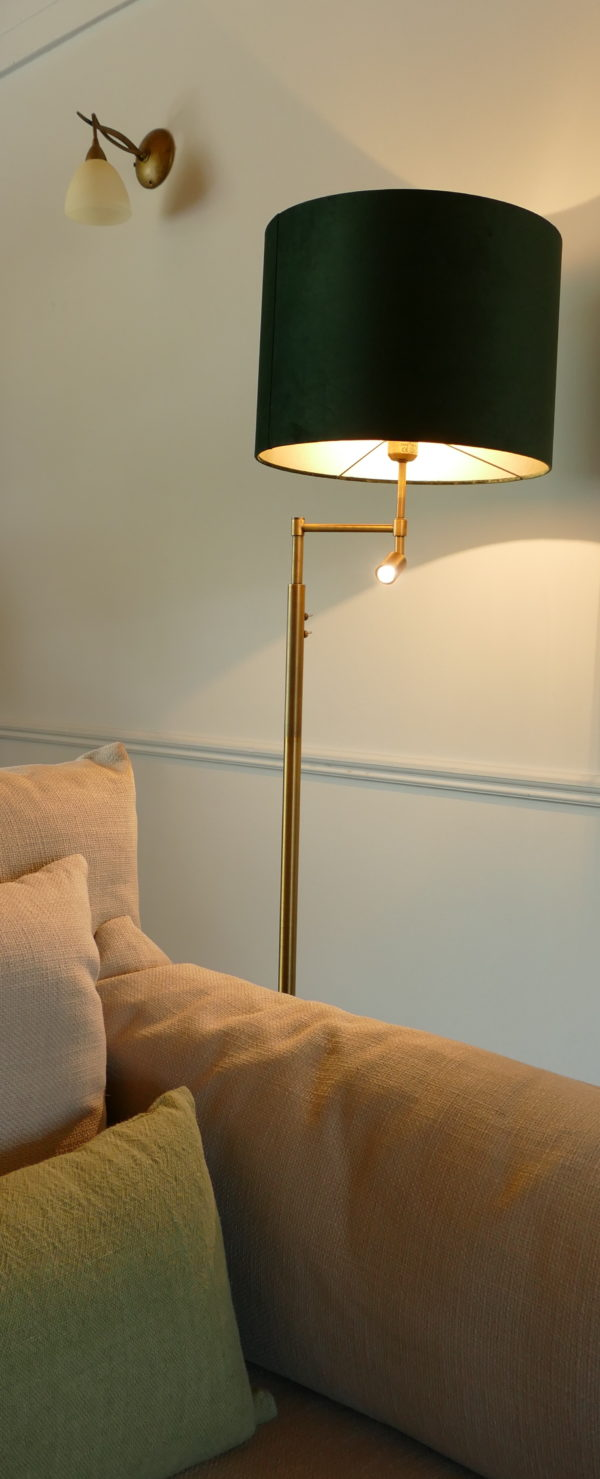 montana antique bronze floor lamp
