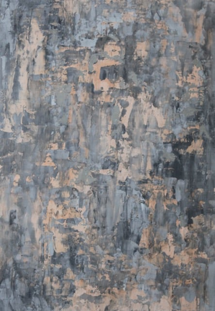 beige and grey abstract painting up close