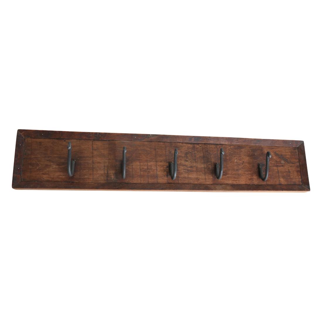 wooden five hook coat hanger