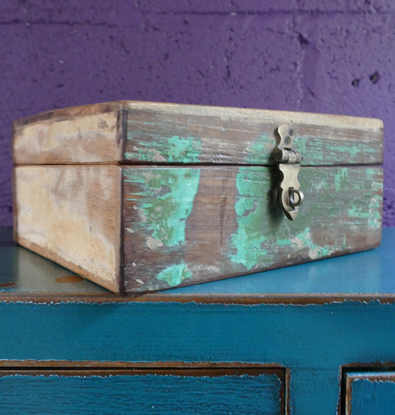 Distressed Wooden Storage Box