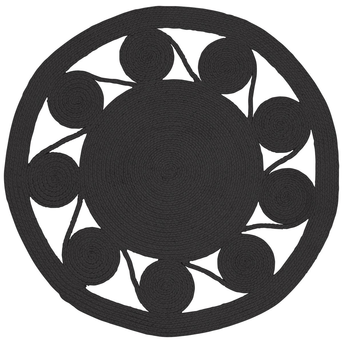 black saskatoon circle throw