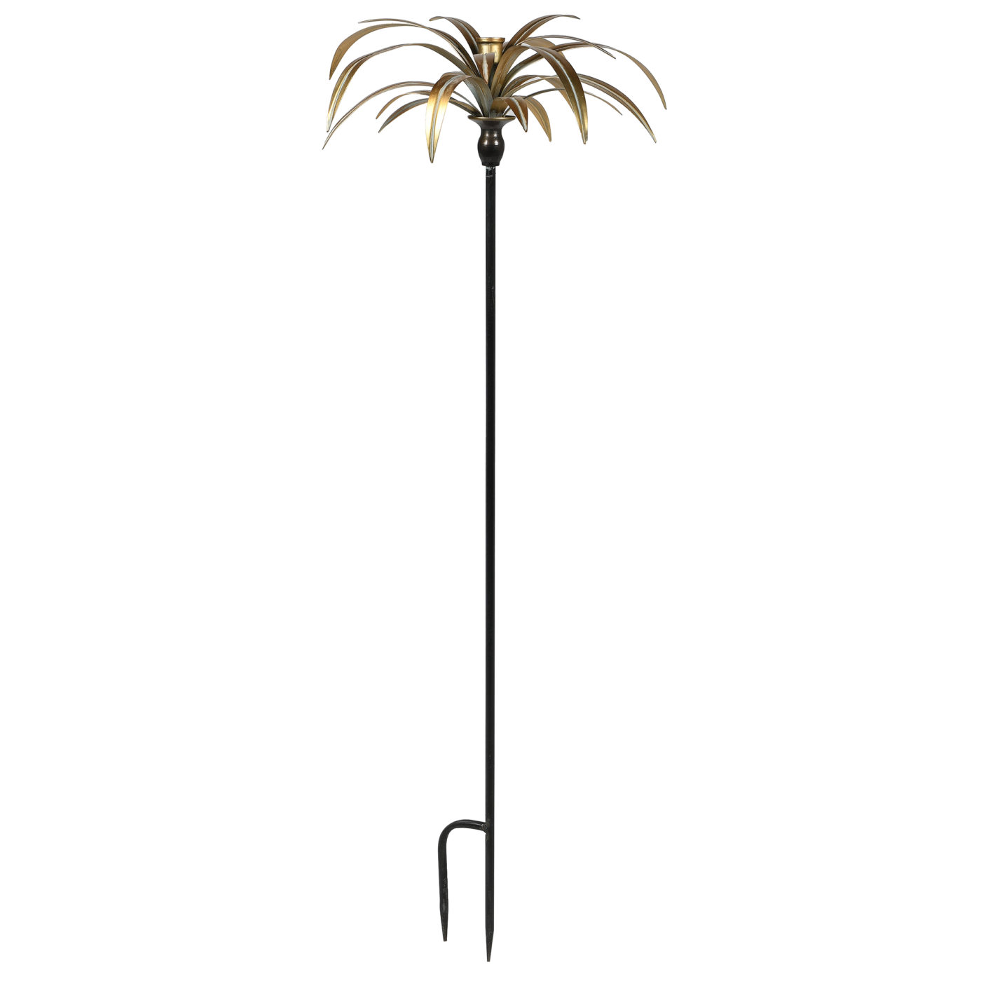 candelarbra gold with palm leaves