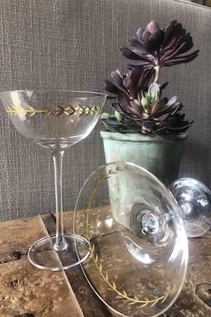 SHAKEN NOT STIRRED' MARTINI GLASSES