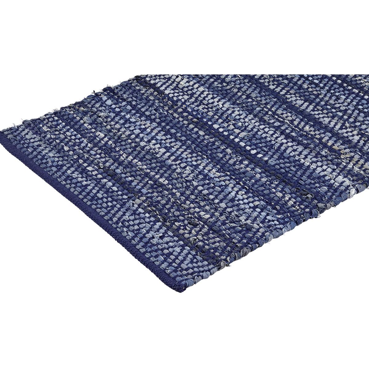 blue saskatoon throw on white background