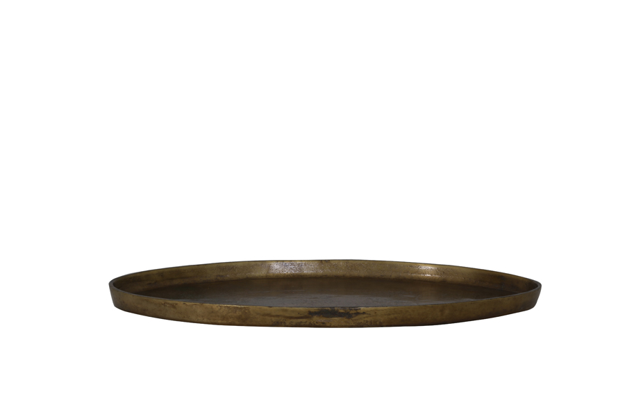 brass tray side view