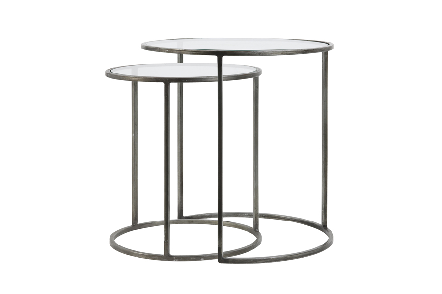 grey edge side tables