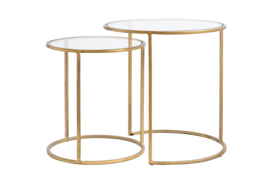 gold edge side tables