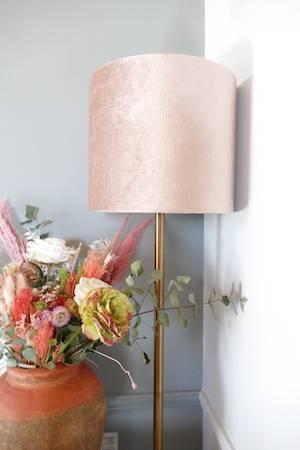 WASHINGTON ROSE GOLD FLOOR LAMP & SHADE WITH WATER POT