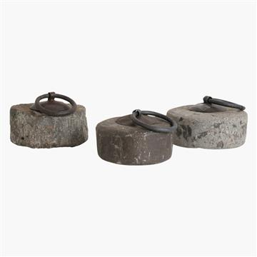three stone weight doorstoppers