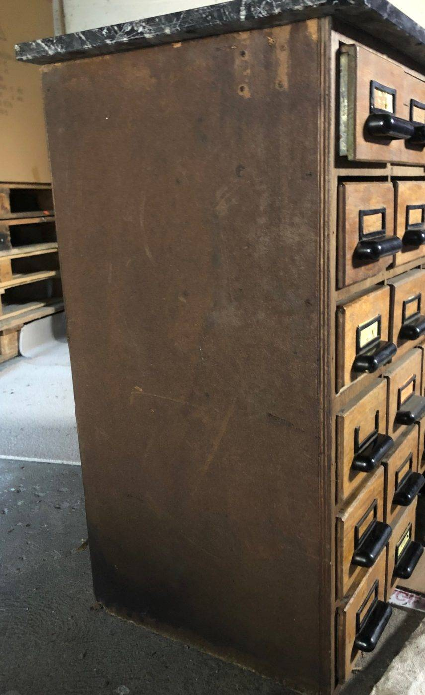 SIDE OF APOTHECARY CHEST