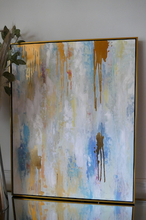 Abstract Wall Art with Gold