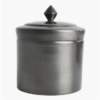 antique silver storage pot