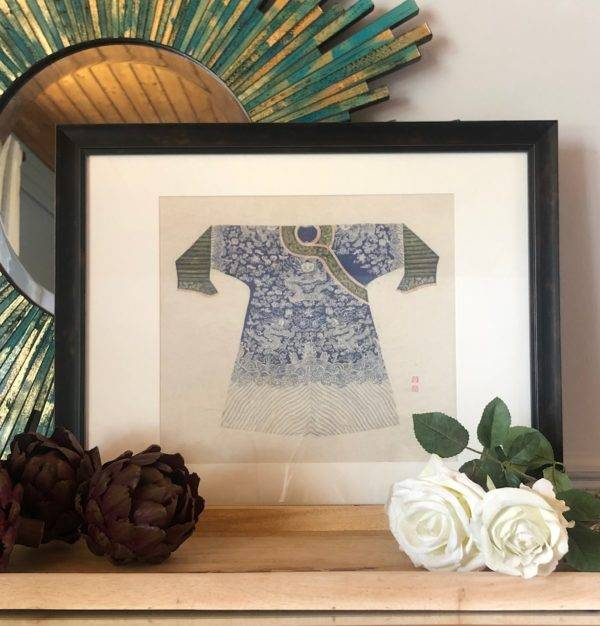 chinese blue coat picture with turquoise mirror by stagers lifesty;e