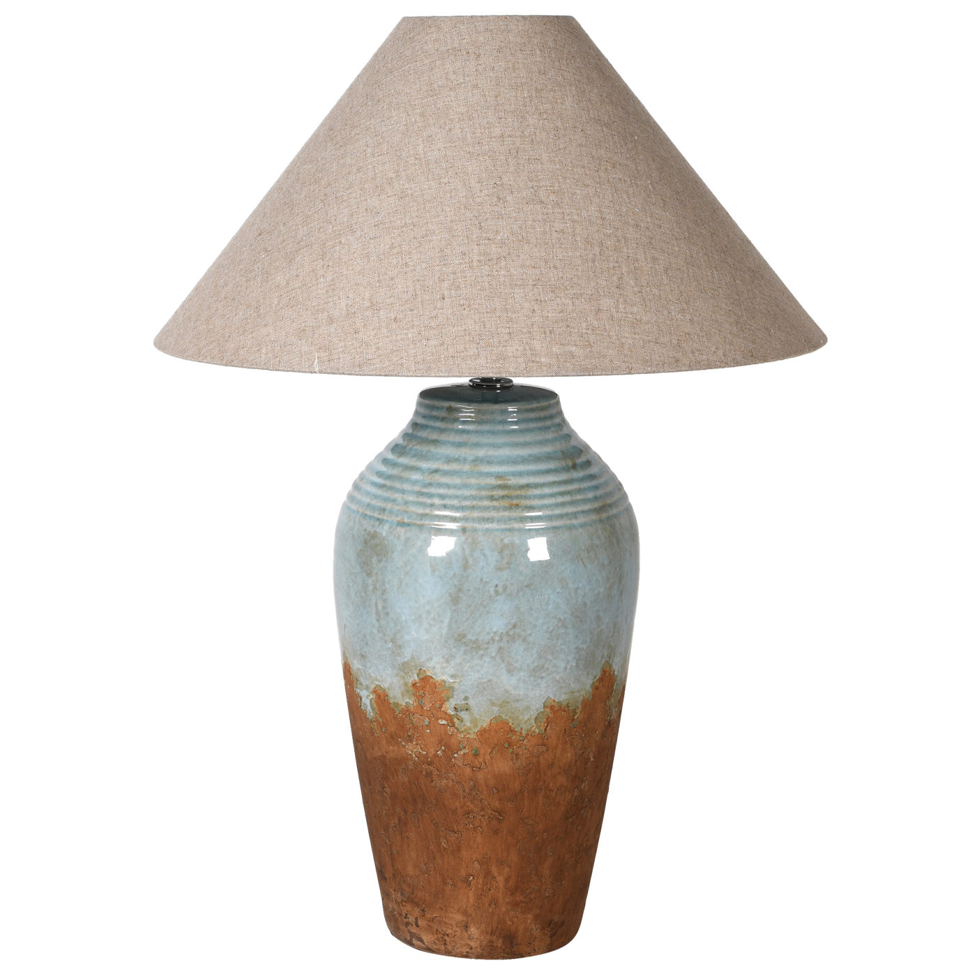 dark two tone lamp with shade