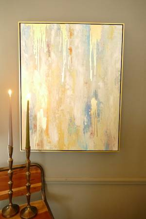 LARGE ABSTRACT WALL ART W:GOLD