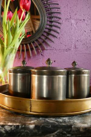 STORAGE POT (ANTIQUE SILVER FINISH)