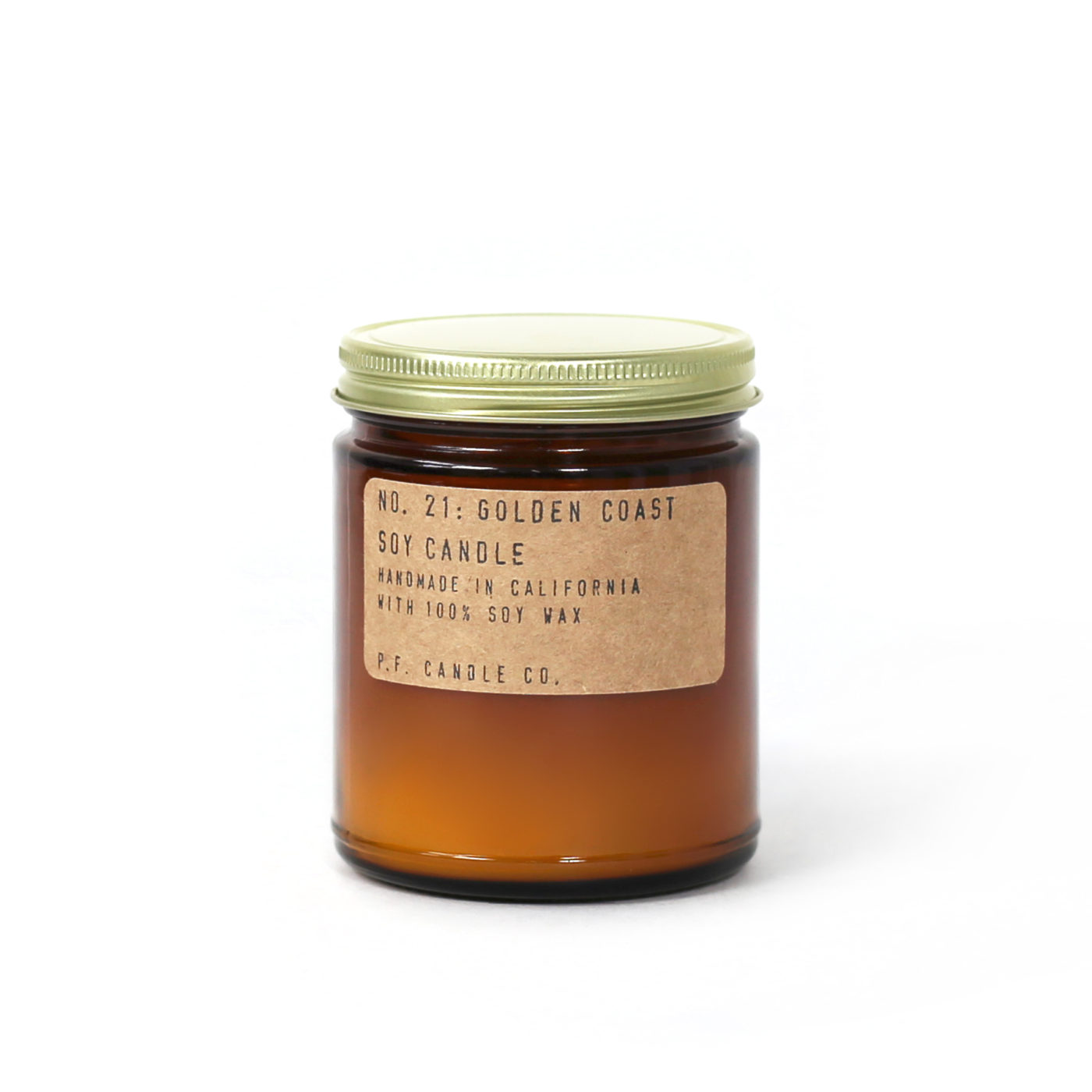 pf golden coast scented candle in jar