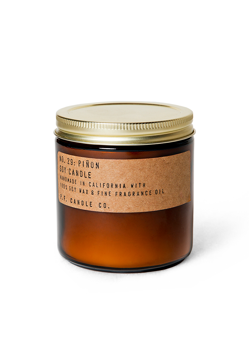 closed jar pinon scented candle